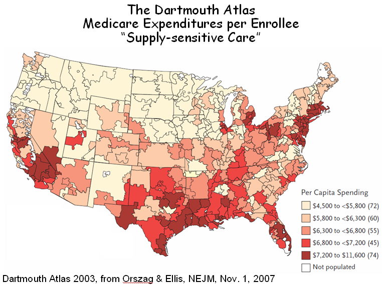 dartmouth atlas project Many current policies and approaches to performance measurement and payment reform focus on individual providers they risk reinforcing the fragmented care and lack of coordination experienced by patients with serious illness in this paper we show that medicare beneficiaries receive most of their.